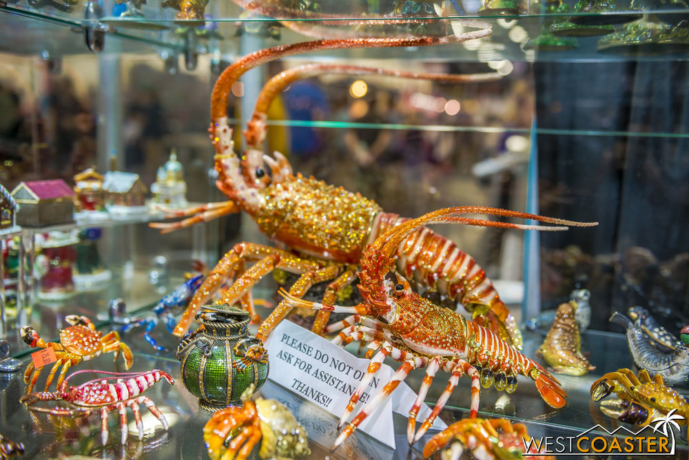Looking for a super expensive bling'd out lobster? Come here!