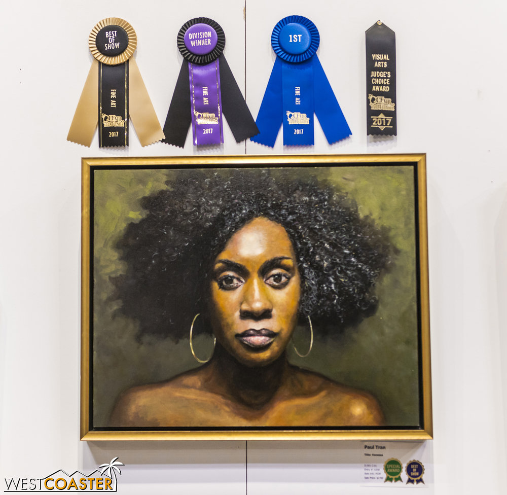 The best visual arts piece was this painting.