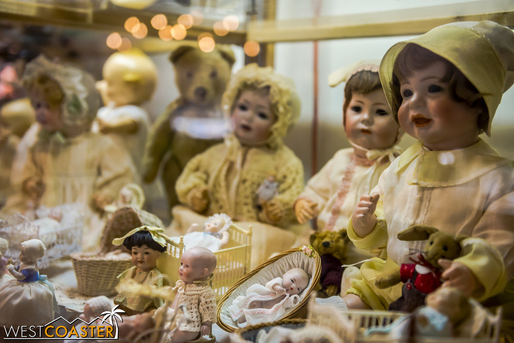 "Each of these dolls contains the soul of a naughty child.  Or as the kids call it these days... a ""horcrux."" (Disclaimer: the above statement may be completely invalid.)"
