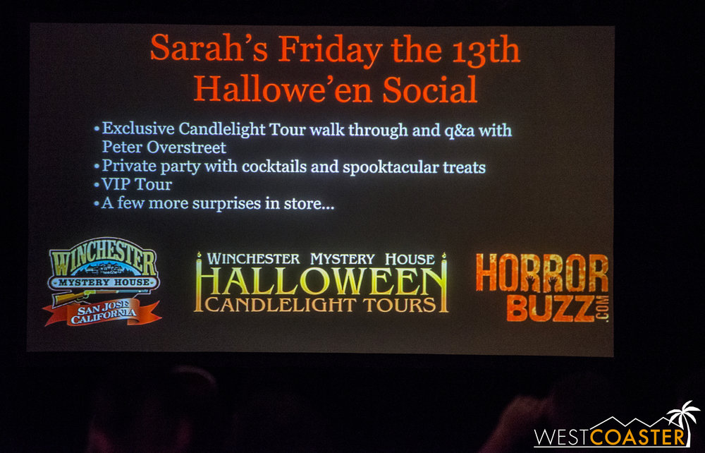 This year, Winchester is partnering with Horror Buzz for a special Friday the 13th Social.  This promises to be a very exciting event, given how significant the number 13 was to Sarah Winchester and the house.
