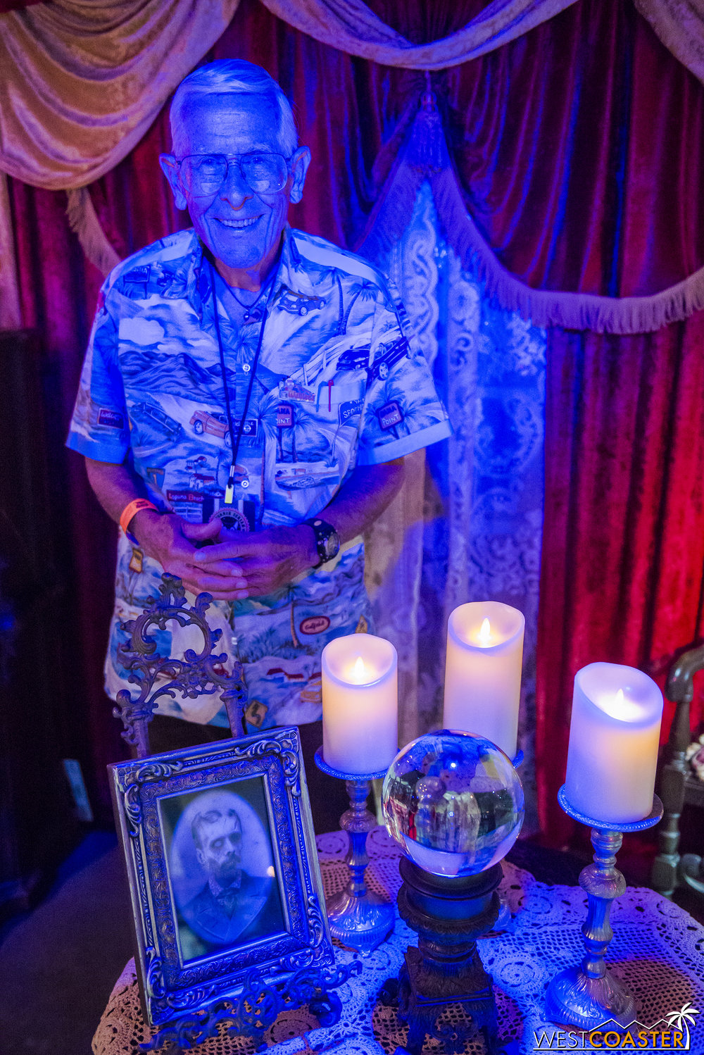 Bob Gurr was at the OC Haunts booth on Sunday.  He was charming as always.