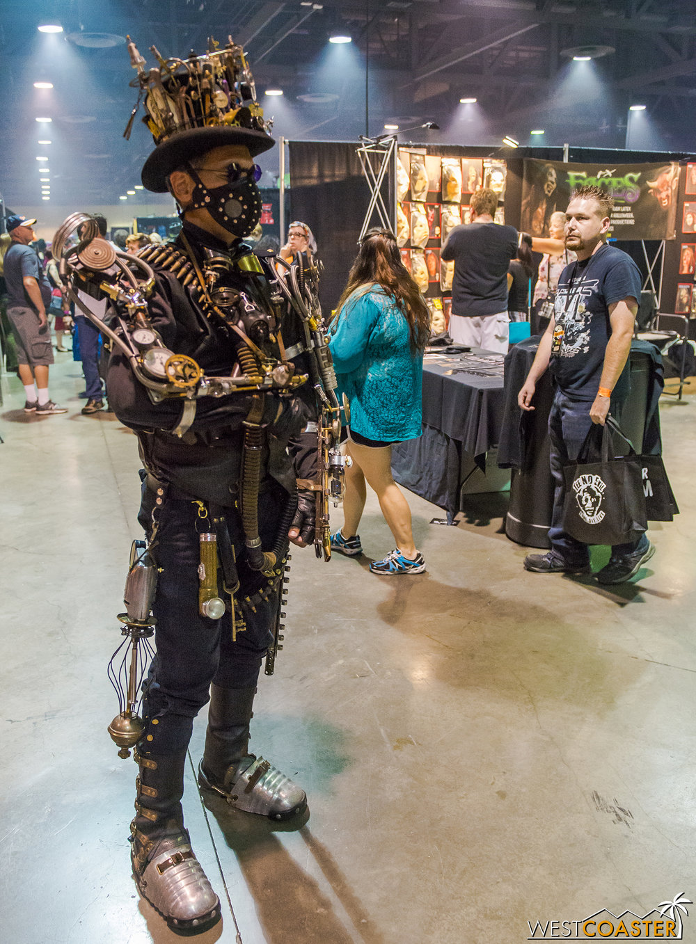 This gentleman's steampunk get-up was quite ornate and attracted plenty of attention.