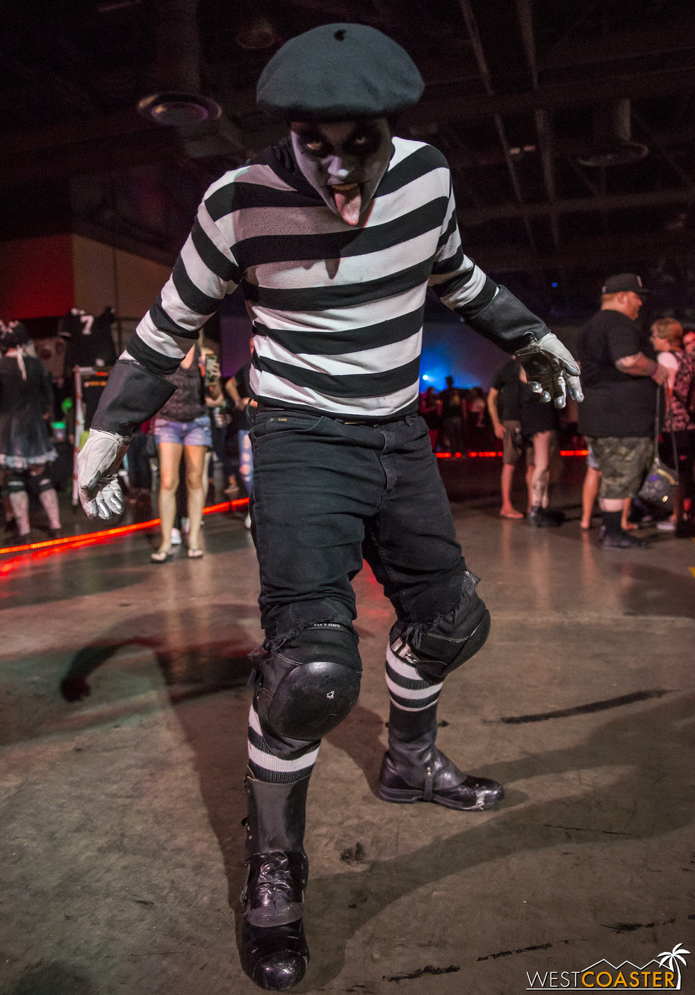 He may look like a harmless mime, but Seabass has some tricks up his sleeve.