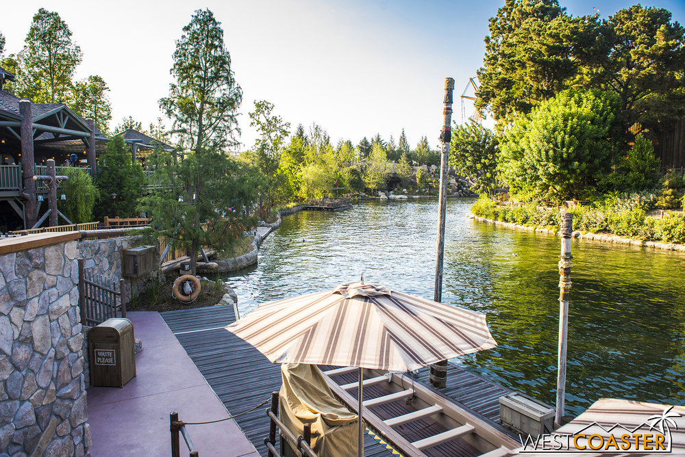 As the pathway from Critter Country was being formed toward Star Wars: Galaxy Edge, some people noted that this would open the Rivers of America up to a new riverwalk area that could be pretty pleasant.