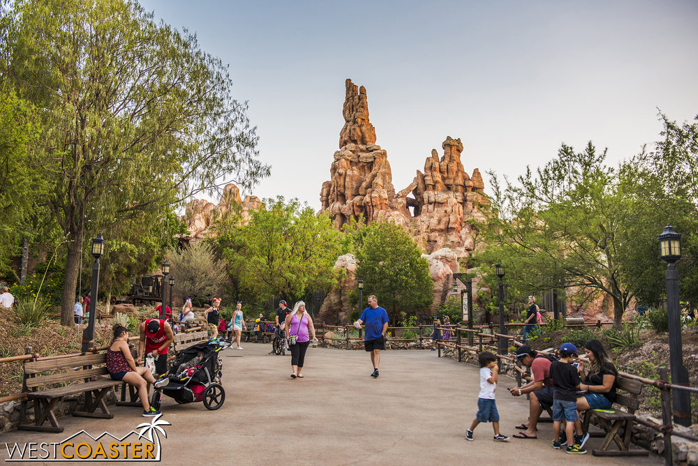 We also get angle back toward Big Thunder Mountain that used to be obscured from the Ranch.