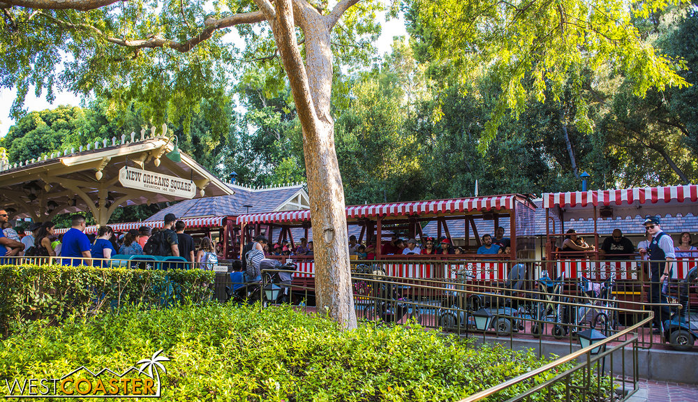 After all, this is the stop right before the Rivers of America updates, if people aren't getting on at Main Street, they're definitely doing so here!