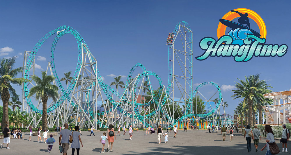 Here's Hang Time... the first not-dive coaster on the west coast...