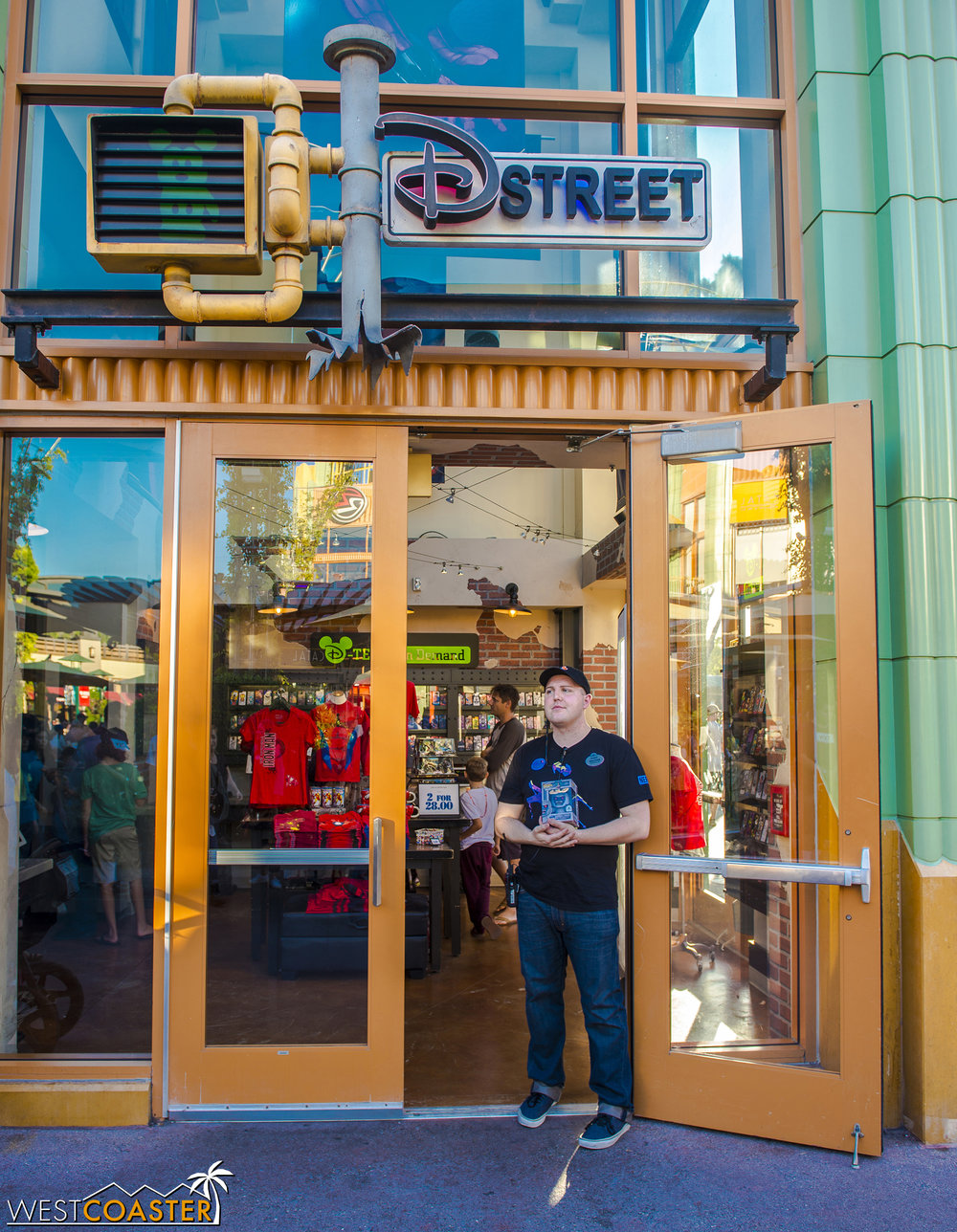 Yes, for a brief time, D Street was the most popular of all stores at Downtown Disney.