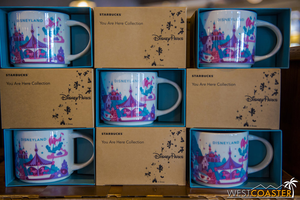 Also, the new Disneyland You Are Here mugs are positively adorable.  They're more like Fantasyland You Are Here, but they're certainly lovely.