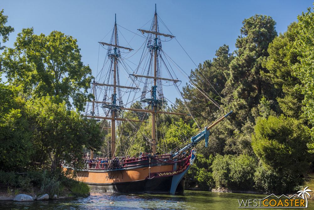 The S.S. Columbia is also back on the waters of the Rivers of America.