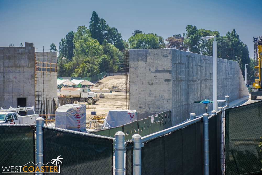 They still haven't closed off this wall, but the rebar is there and ready for it!