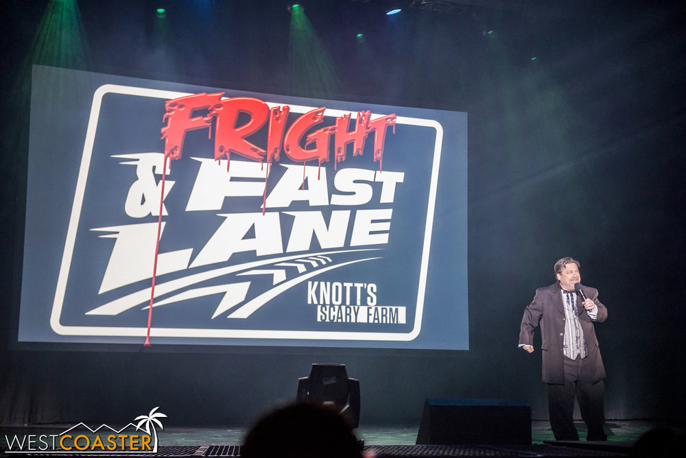 In past years, Fright Lane only provided front of line to the mazes and access to the Skeleton Key Rooms.  This year, it lets you skip the line at rides too!