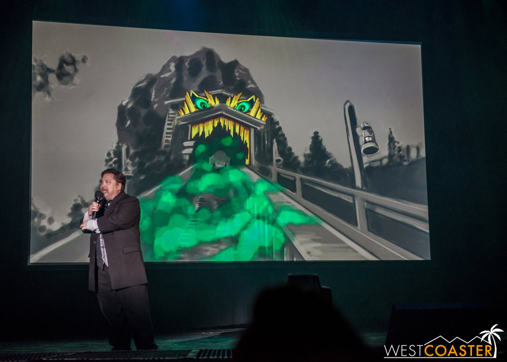 The first big announcement was the Log Ride Halloween season makeover.