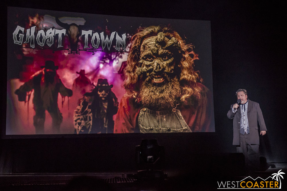 Ghost Town is Ghost Town... it's where Knott's Scary Farm Started, and it's still top billing when it comes to scare zones.  This year, new characters like an undertaker (perhaps The Undertaker?) will roam the streets, while Sad Eye Joe, famous poor peak-in chap behind bars, will become  Mad  Eye Joe, vicious prisoner with a mean streak.