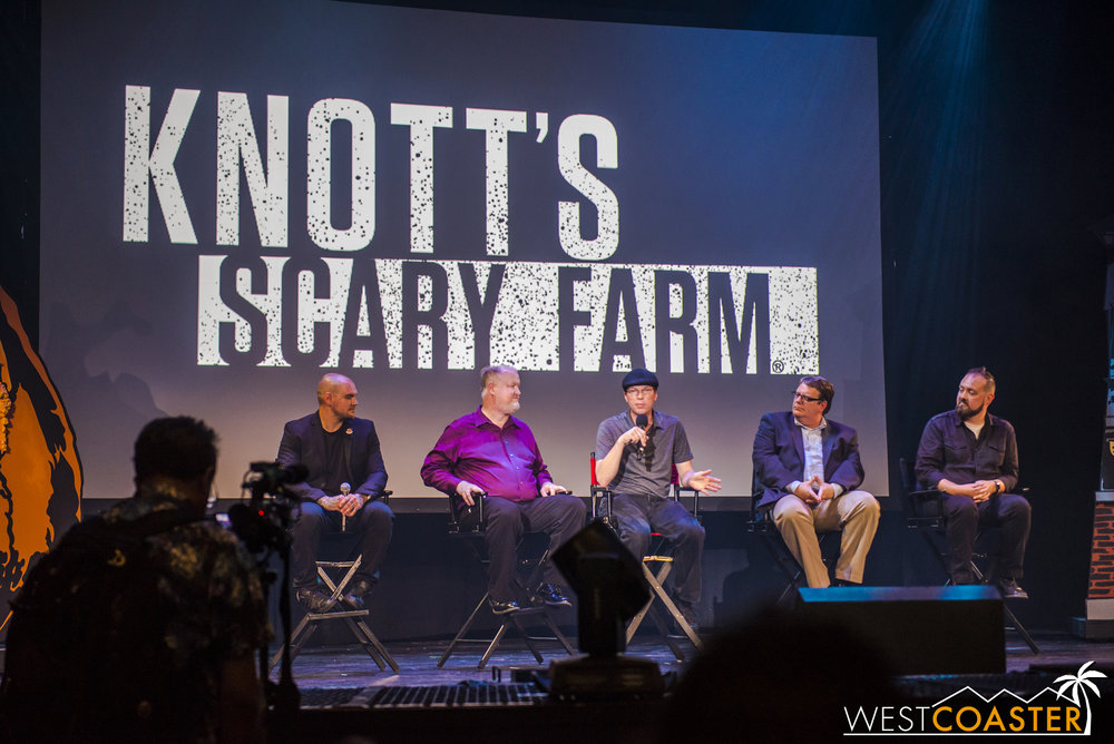 After the event, media members had a chance to ask various questions of the Scary Farm and park team.  It was... interesting.