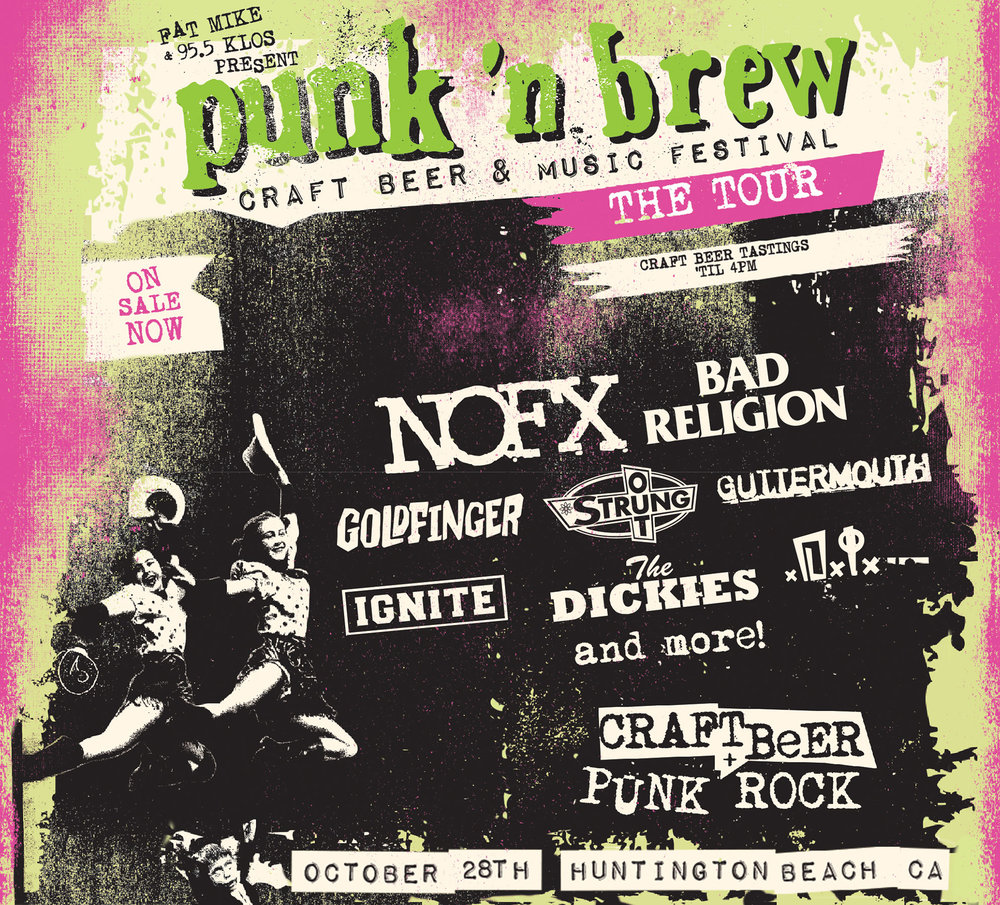 Festival poster, with NOFX and Bad Religion headlining. (Courtesy of Punk in Drublic Festival.)
