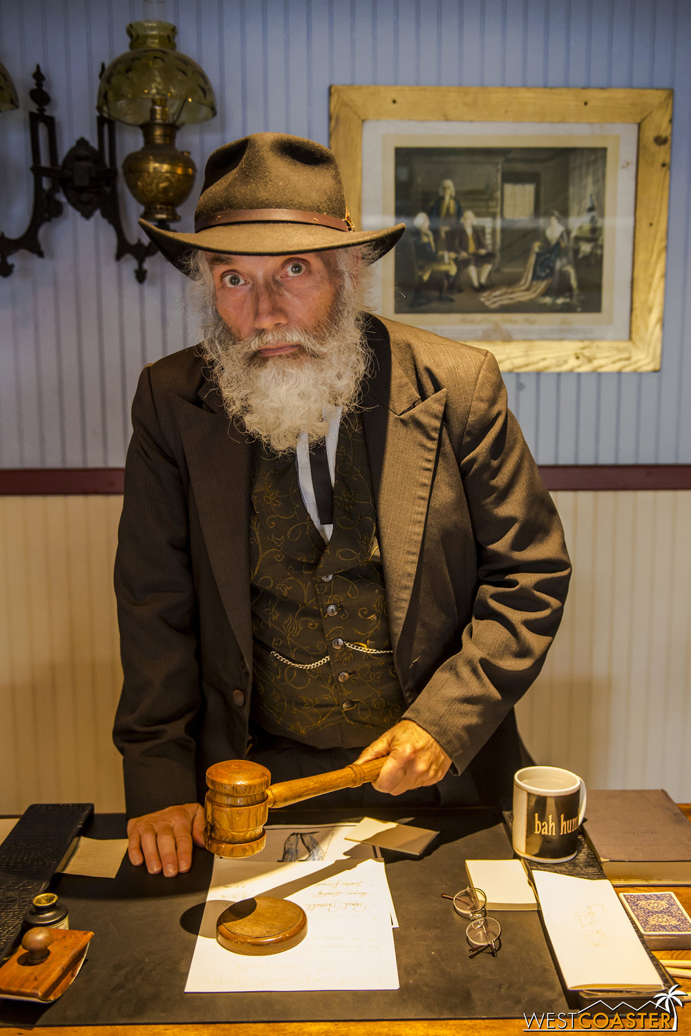 Calico's Judge Roy Bean lays down the law at Town Hall.