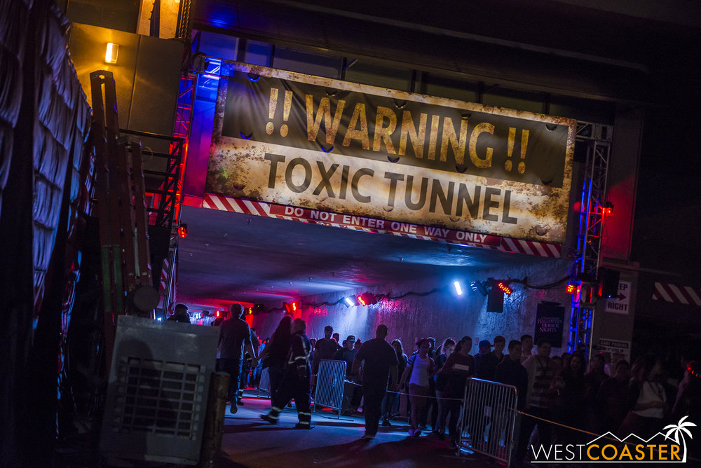They flat out acknowledged that this scare zone was just a tunnel, but there's not much that can be done in this area.