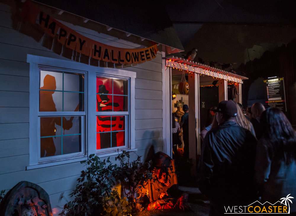 What an adorably decorated house devoted to Freddy, Jason, and Leatherface!