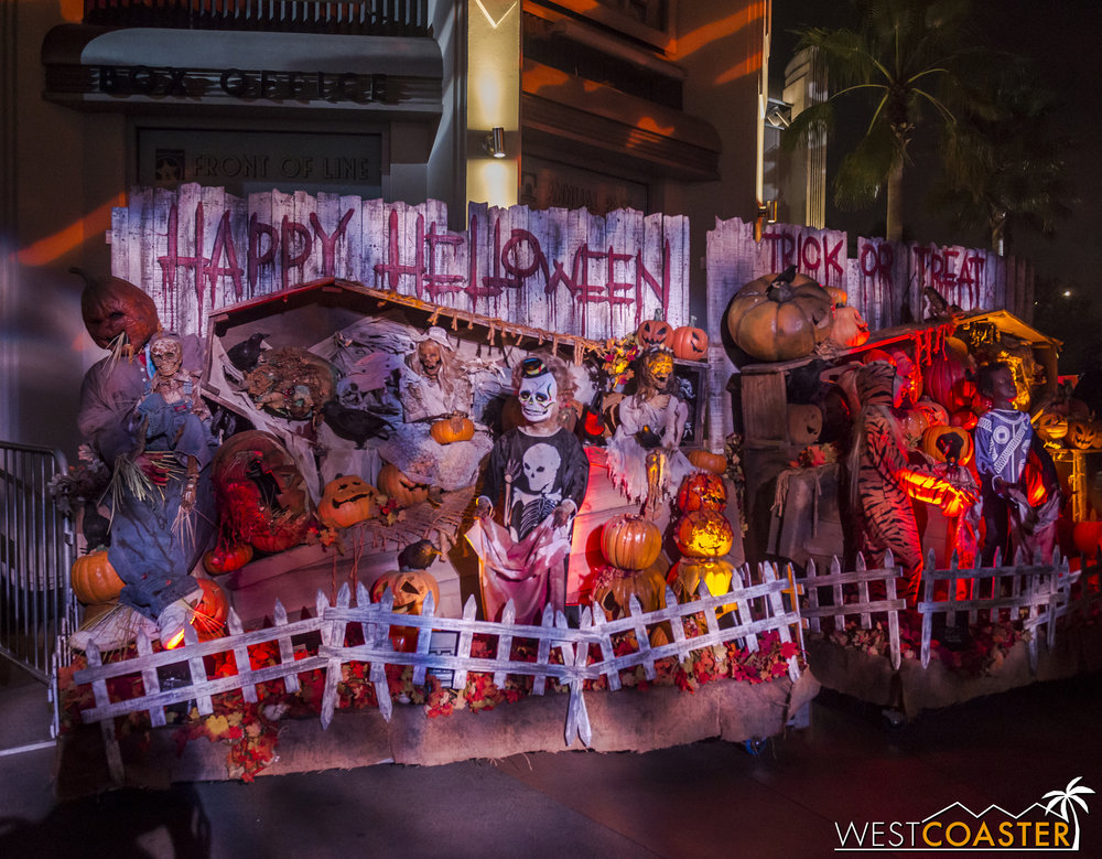 There are no fire towers for the first time in a decade, but plenty of gory Halloween theming.