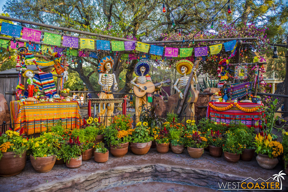 It celebrates the Mexican Day of the Dead.