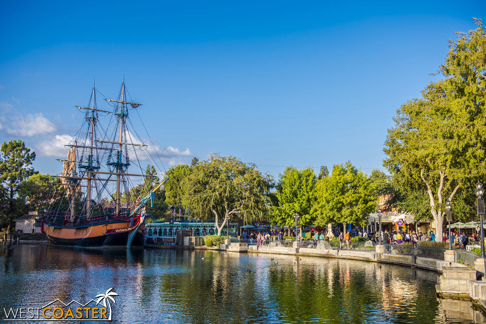 The Rivers of America are beautiful in the afternoon golden hour light.