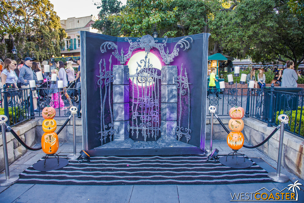 The park was readying photo ops and other Mickey's Halloween Party decorations on Friday afternoon.