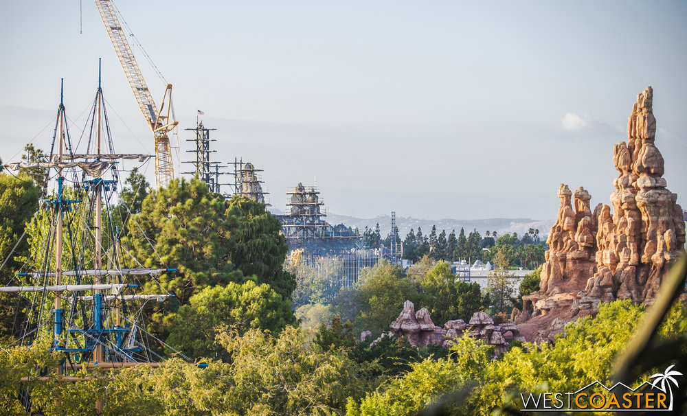 From certain parts of the park, the mountains are visible across the skyline.
