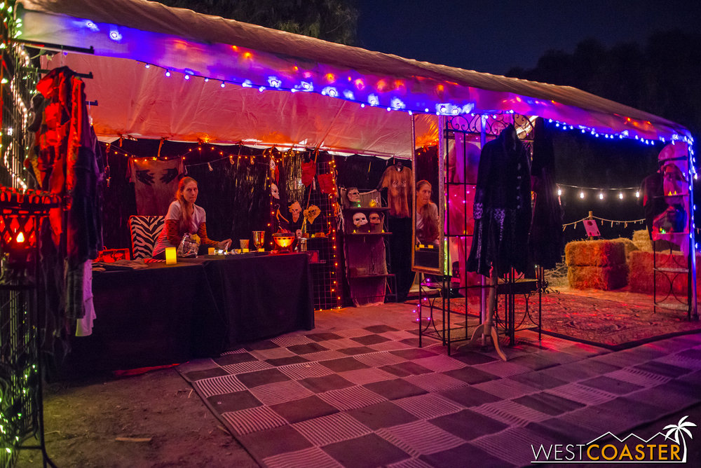 Besides the attraction, guests can also look at spooky wares.