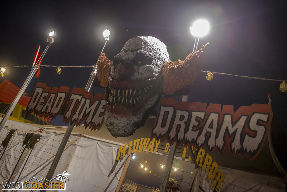 Dead Time Dreams is located next to a pumpkin patch with a host of inflatable slide, bounce house, and water attractions (more on this at the end).  The entrance is on the opposite corner of the lot from the intersection of Tully Road and Capitol Expressway, off Swift Lane.