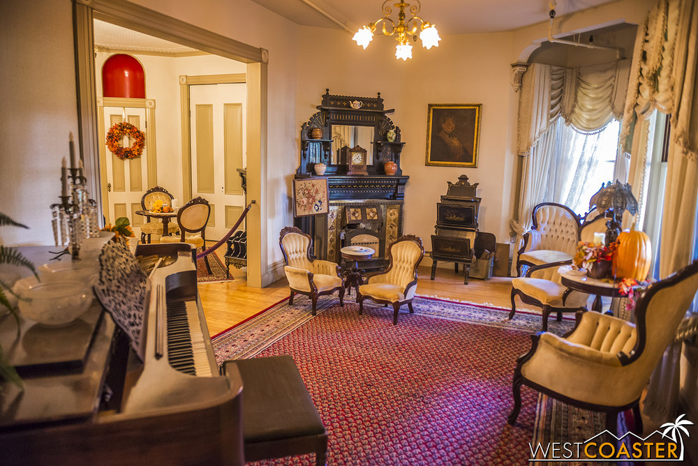 Many of the rooms that the Explore More Tour passes by are seen in the Mansion Tour...