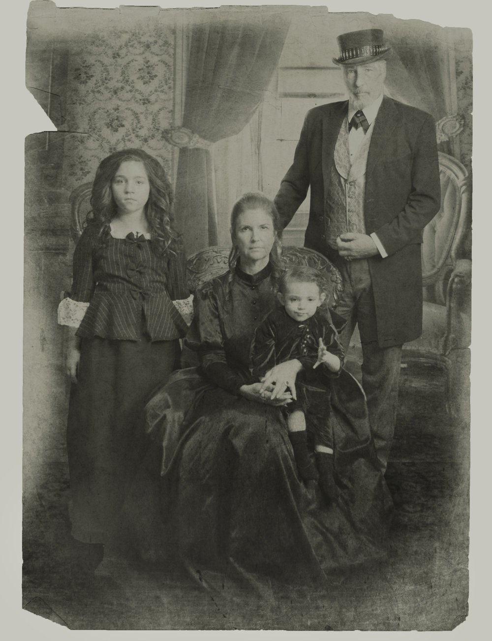 The only known photo of the Black family. (Photo courtesy of Bone Yard Effects.)