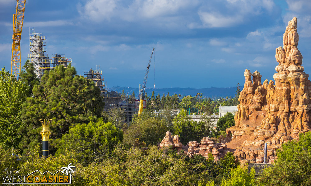 Here's the look toward Big Thunder Mountain Railroad.