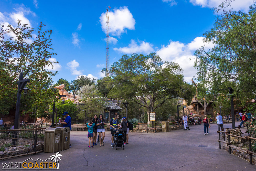 Here's the view over by the Frontierland entrances into Galaxy's Edge.