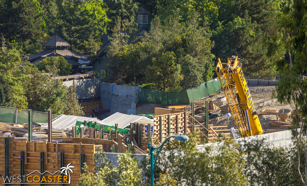 "It's relatively obstructed, but they're doing land clearing work and some planting over by the Critter Country entrance into ""Star Wars"" Land."