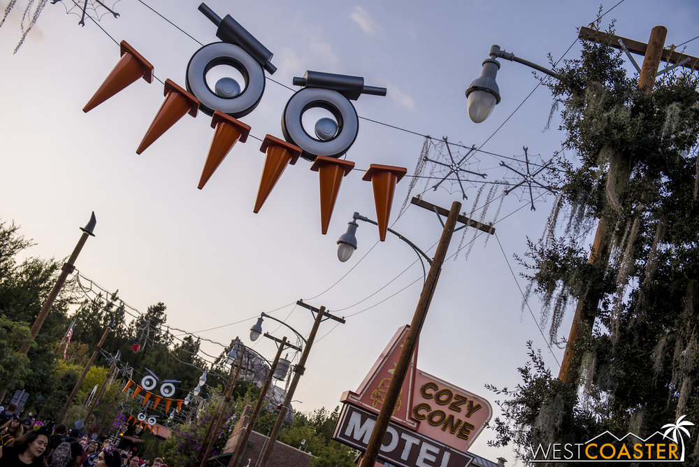 For Halloween, Cars Land took on a bit of a beastly feel.