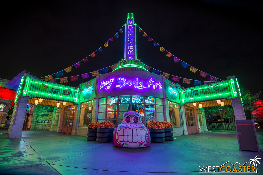 """A """"sugarcar"""" in front of Ramone's."""