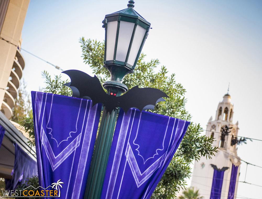 Halloween TIme invaded Disney California Adventure, starting with Buena Vista Street.
