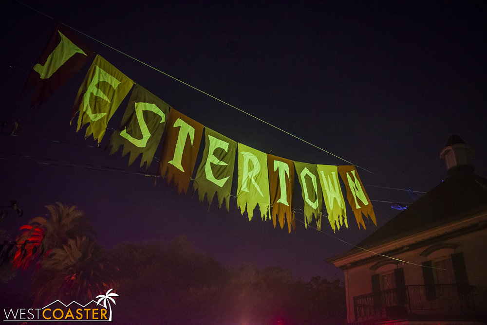Jestertown was a fitting scare zone at Orleans Place.