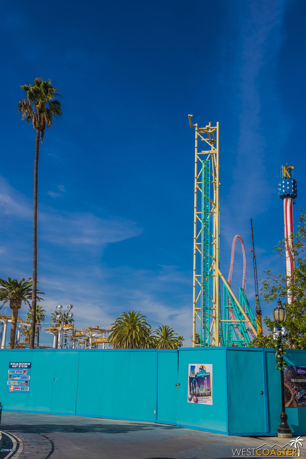 Dayam, there's a pretty tall erection coming out of the Boardwalk at Knott's!