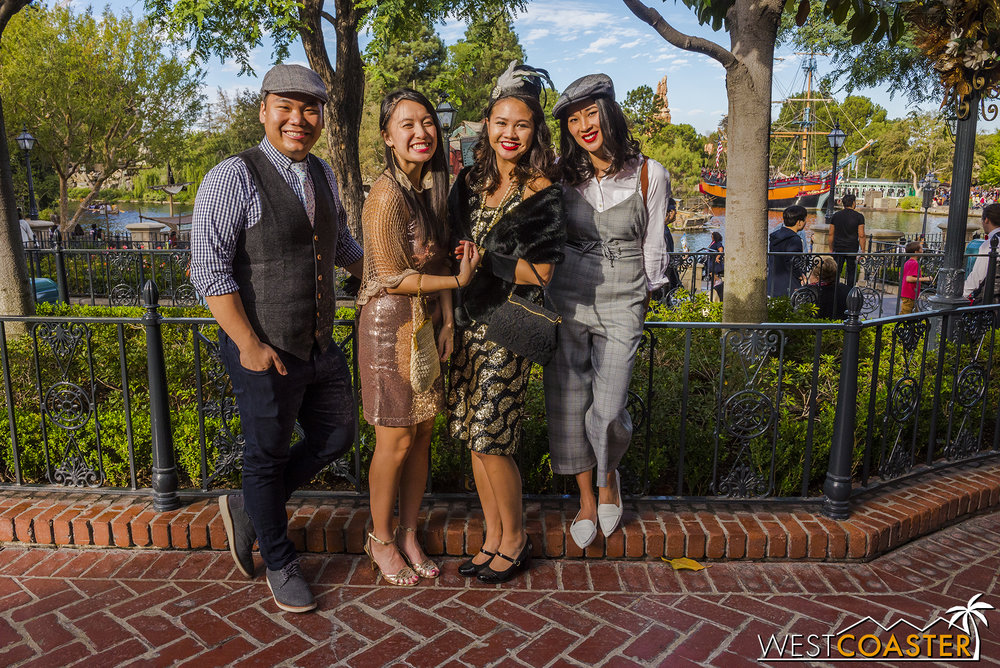 Of course, not all Dapper Day attendees were Disney Bounders.  Some chose to dress up more in traditional dapper attire.