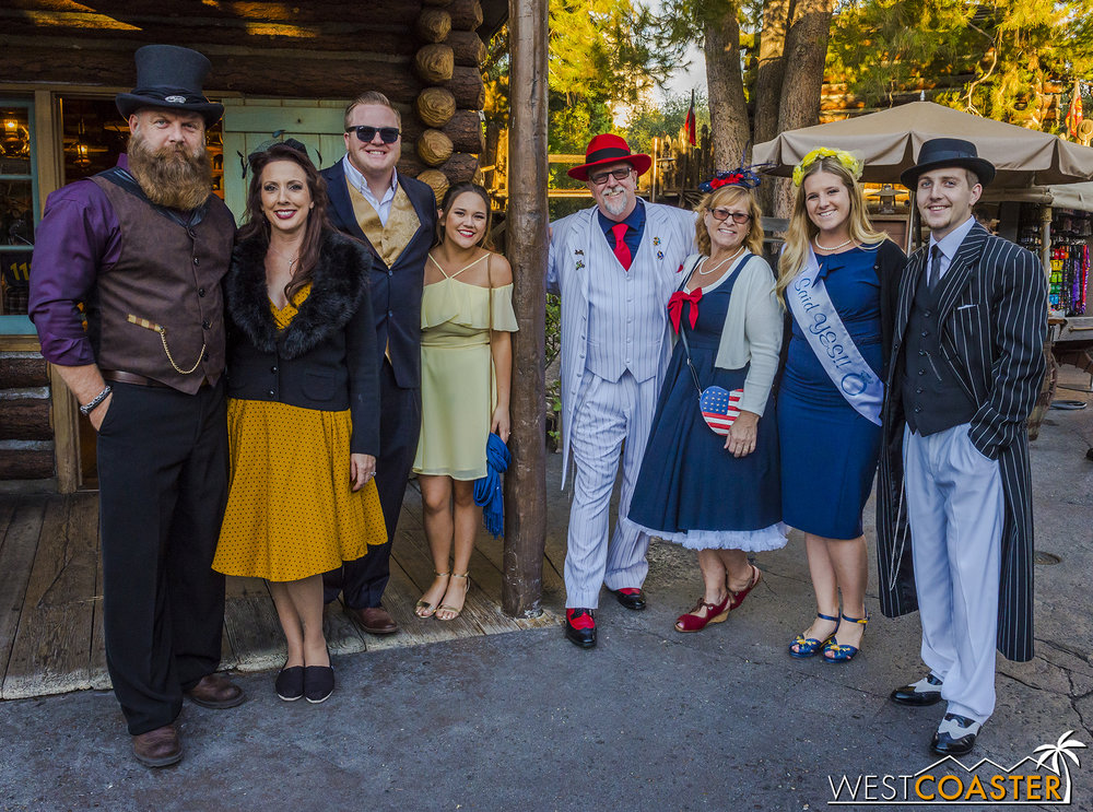 Meanwhile, this group was celebrating Dapper Day and an in-park engagement!