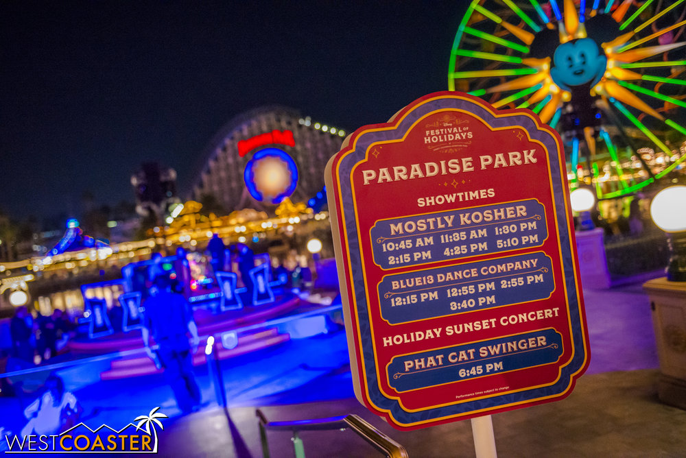More entertainment can be found at the Paradise Park stage.