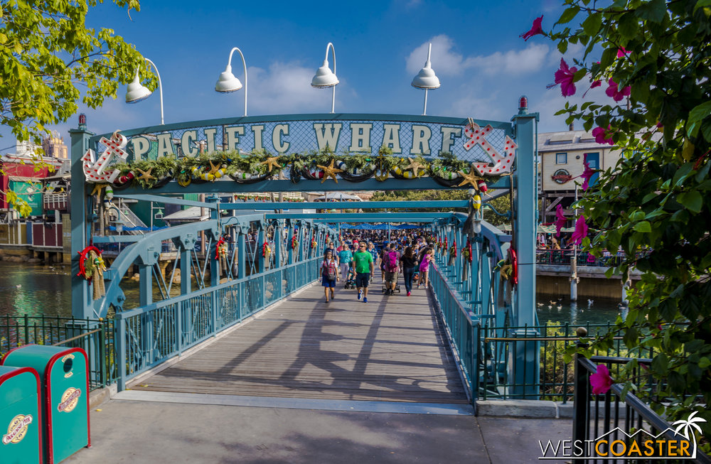 The holidays are nautical at Pacific Wharf!