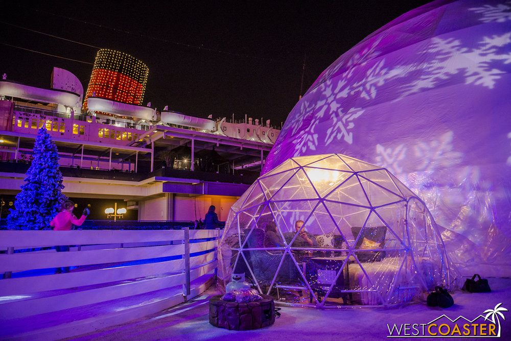"There are scattered domed ""igloo"" lounge areas that are lavishly furnished and very charming."
