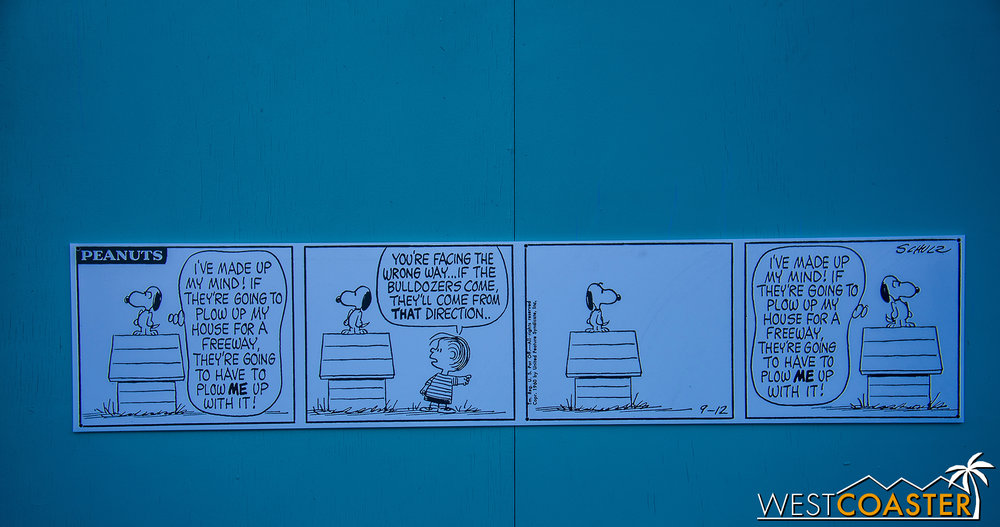 This is fitting for the Knott's Peanuts Celebration, going on now through February 25.