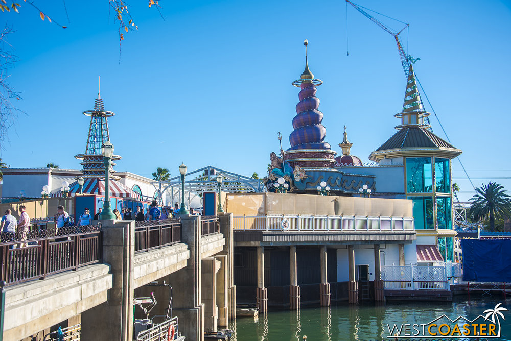 Ariel's Grotto is also closed.