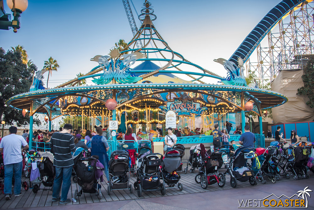 "King Triton's Carousel remains open.  I'm not sure if there are plans for this to be changed, but as my friend, Danny, quipped, if they don't re-theme it to Toy Story and call it ""Woody's Round-Up,"" that's a missed opportunity."