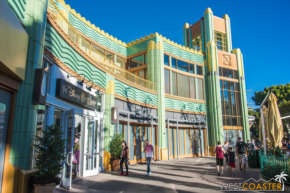 Based on the concept art, it appears this will include an outdoor second floor patio above The Disney Dress Shop.