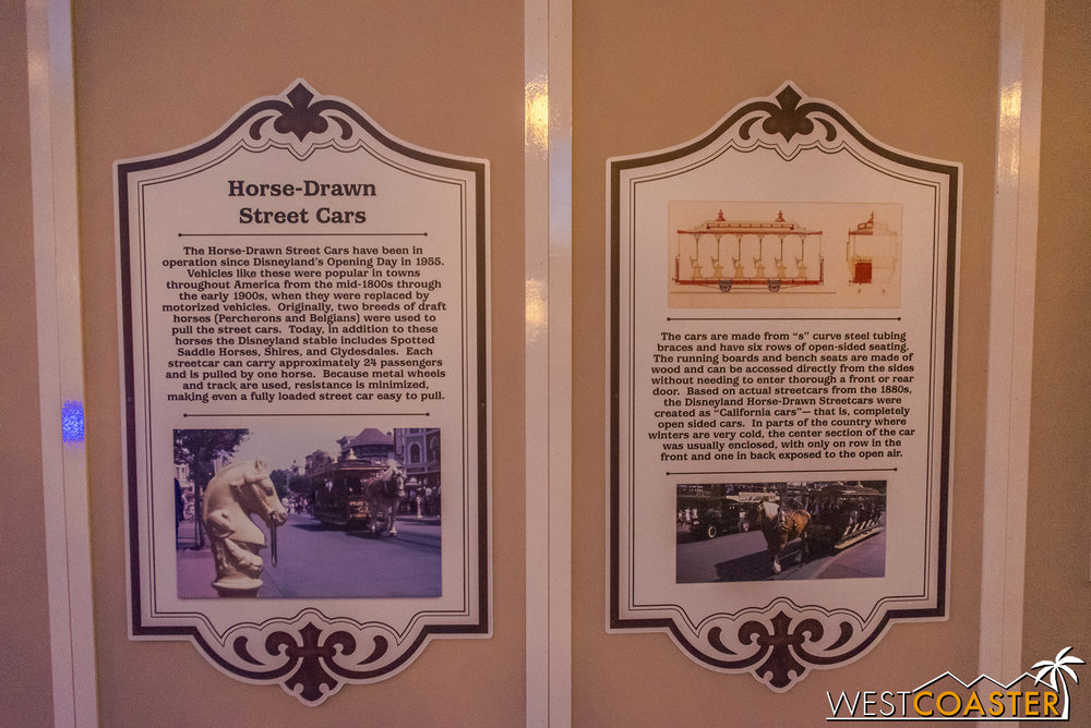 The work walls have some fun facts about the history of select Main Street attractions.